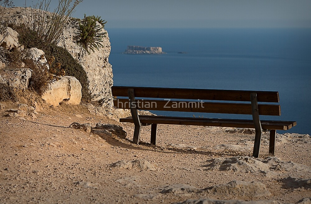 The lonely bench by Christian  Zammit