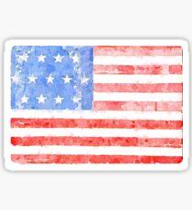 Watercolor American Flag Sticker