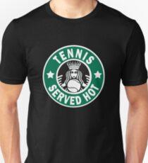 """Lustiges """"Tennis diente heißes"""" Hemd-Neuheit-Geschenk für Tennis-Fan Unisex T-Shirt"""