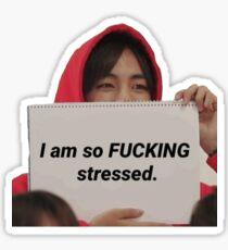 Ich bin so F ** König Betont Tae Sticker