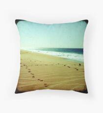 BEACH BLISS - Footprints Throw Pillow