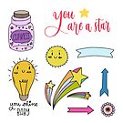 Cute hand-drawn stickers. by Senpo