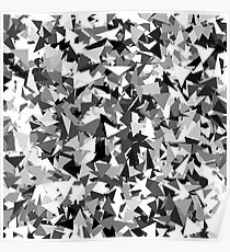 Gray urban camouflage Poster
