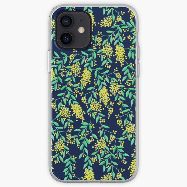 Golden Wattle - Navy iPhone Soft Case