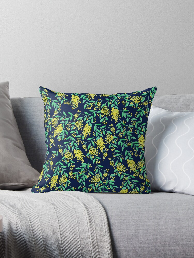 Golden Wattle - Navy by makemerriness