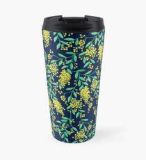 Golden Wattle - Navy Travel Mug
