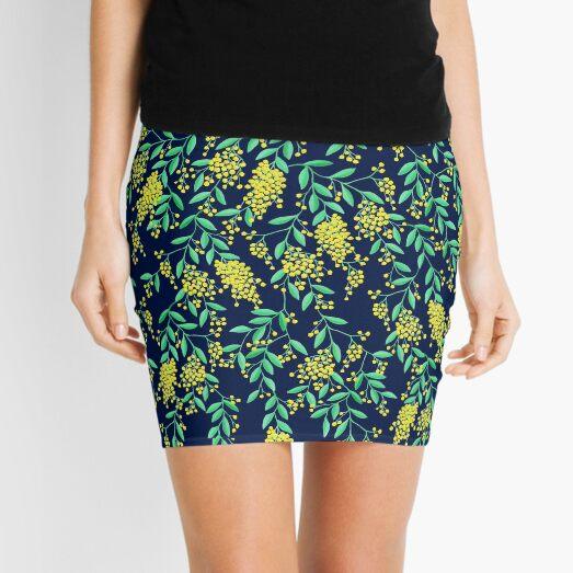 Golden Wattle - Navy Mini Skirt