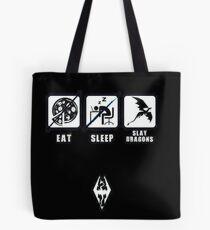 Skyrim - Eat, Sleep, Slay Dragons Tote Bag