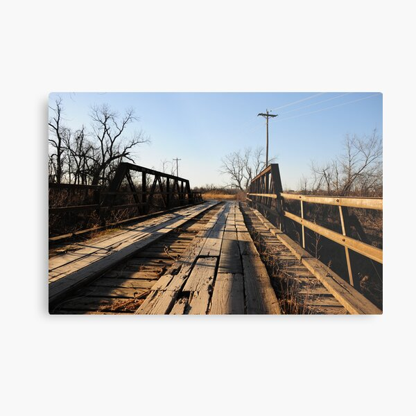 Old Wooden Bridge Metal Print