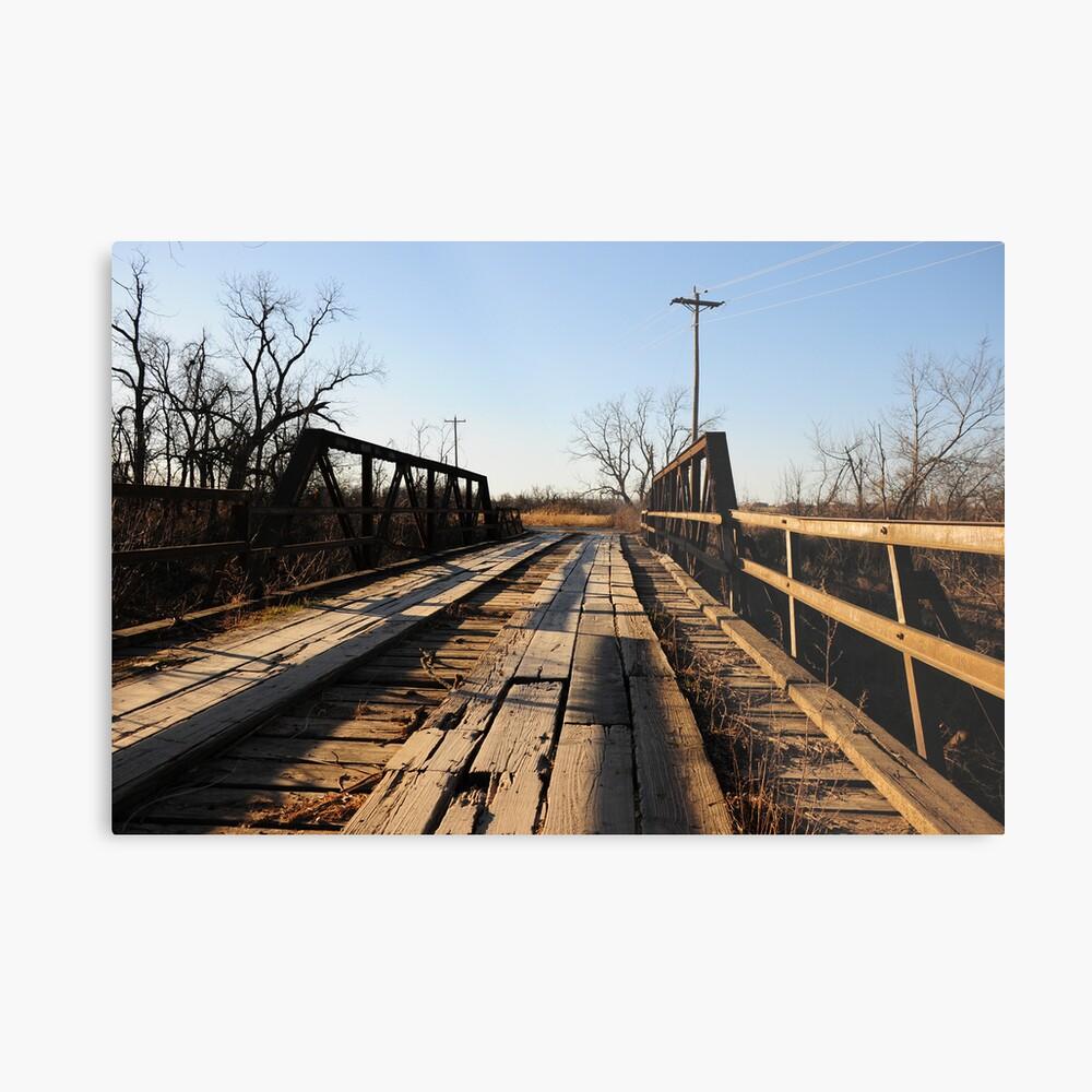 Old Wooden Bridge Metal Print