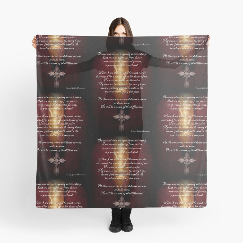 The Golden Dominatrix Postcards  Scarf