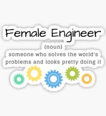 Pegatina Definición de Ingeniera Femenina