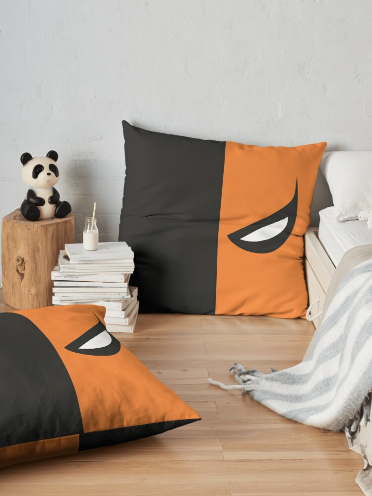 Alternate view of Deathstroke Mask Floor Pillow