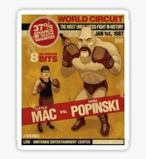 Little Mac Mike Tyson's Punch Out  Sticker