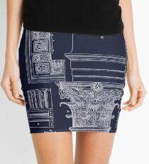 Ancient Corinthian Capital architectural plan blueprint drawing Mini Skirt
