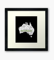 The Aussie's Continent Framed Print