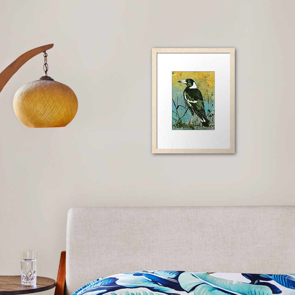 Mr Magpie Framed Art Print