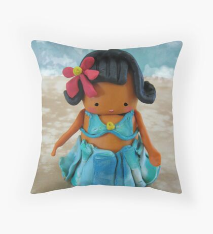 CHUNKIE Hula Girl Throw Pillow