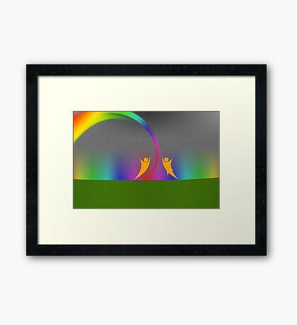 Rainbow Dance v1 Framed Print