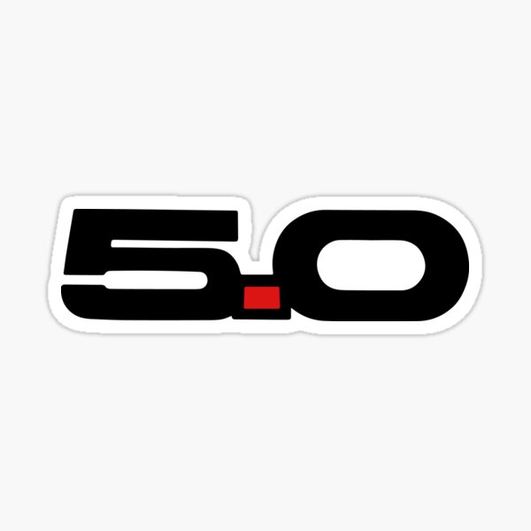 5.0 Coyote Engine S550 Stang  Sticker