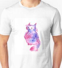 Lilac Galaxy Kitten Unisex T-Shirt