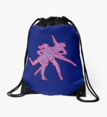 Dimension overlap Drawstring Bag