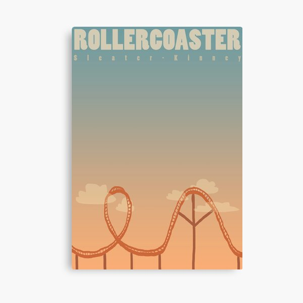 Sleater Kinney - Rollercoaster Canvas Print