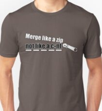 Merge Like A Zip (Clear) Unisex T-Shirt