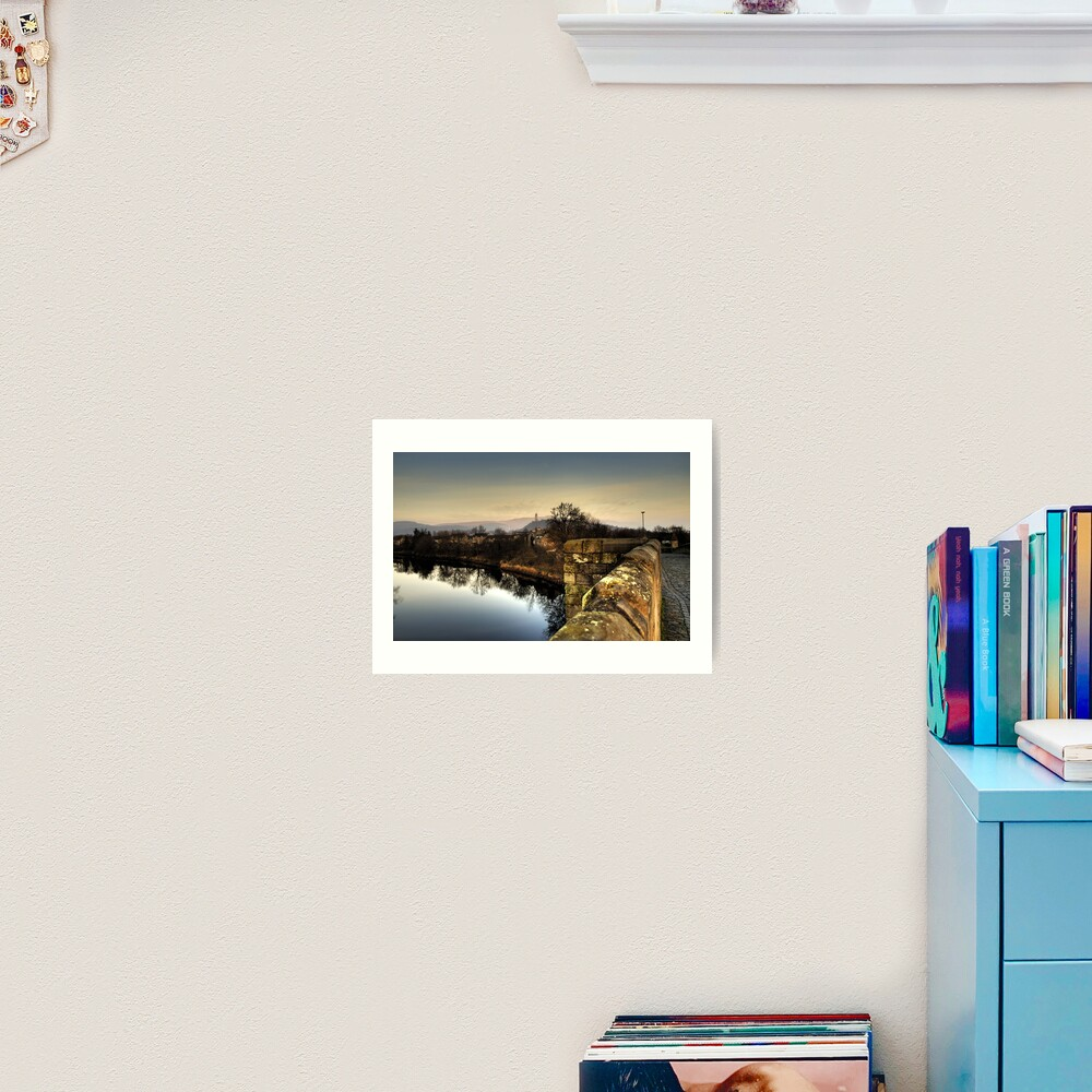 Wallace Monument from Stirling Bridge Art Print