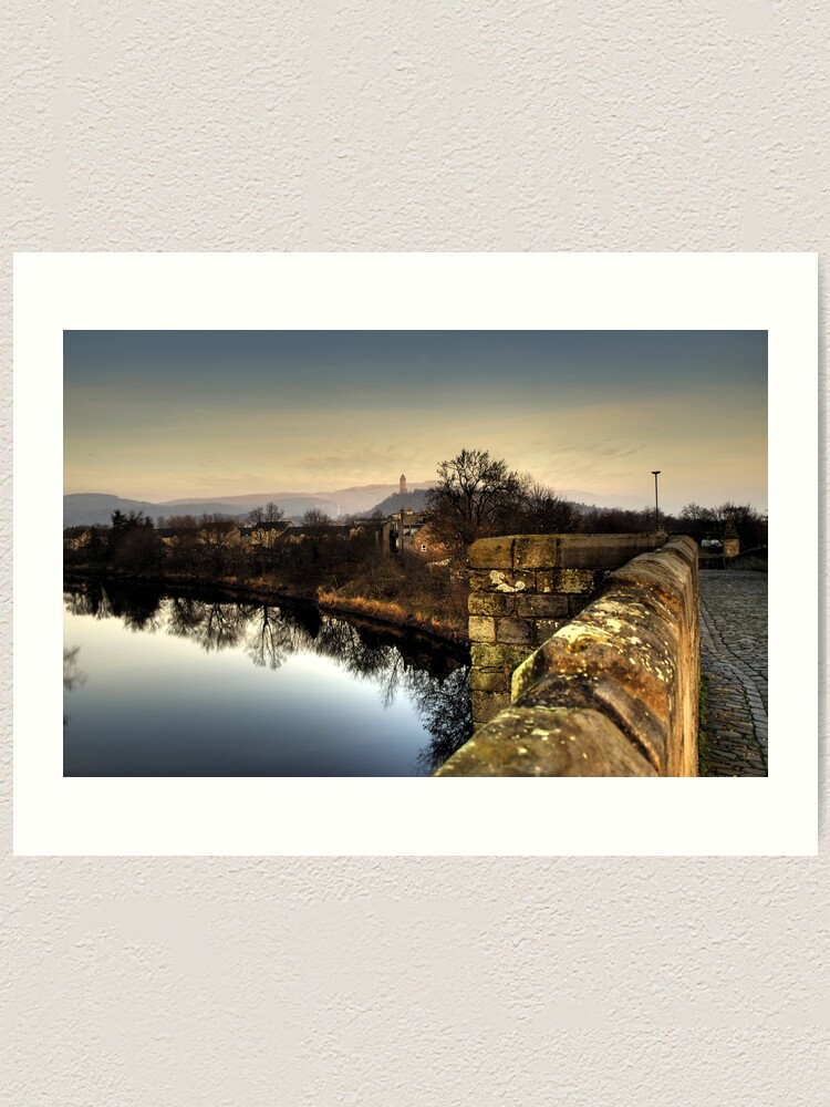 Alternate view of Wallace Monument from Stirling Bridge Art Print