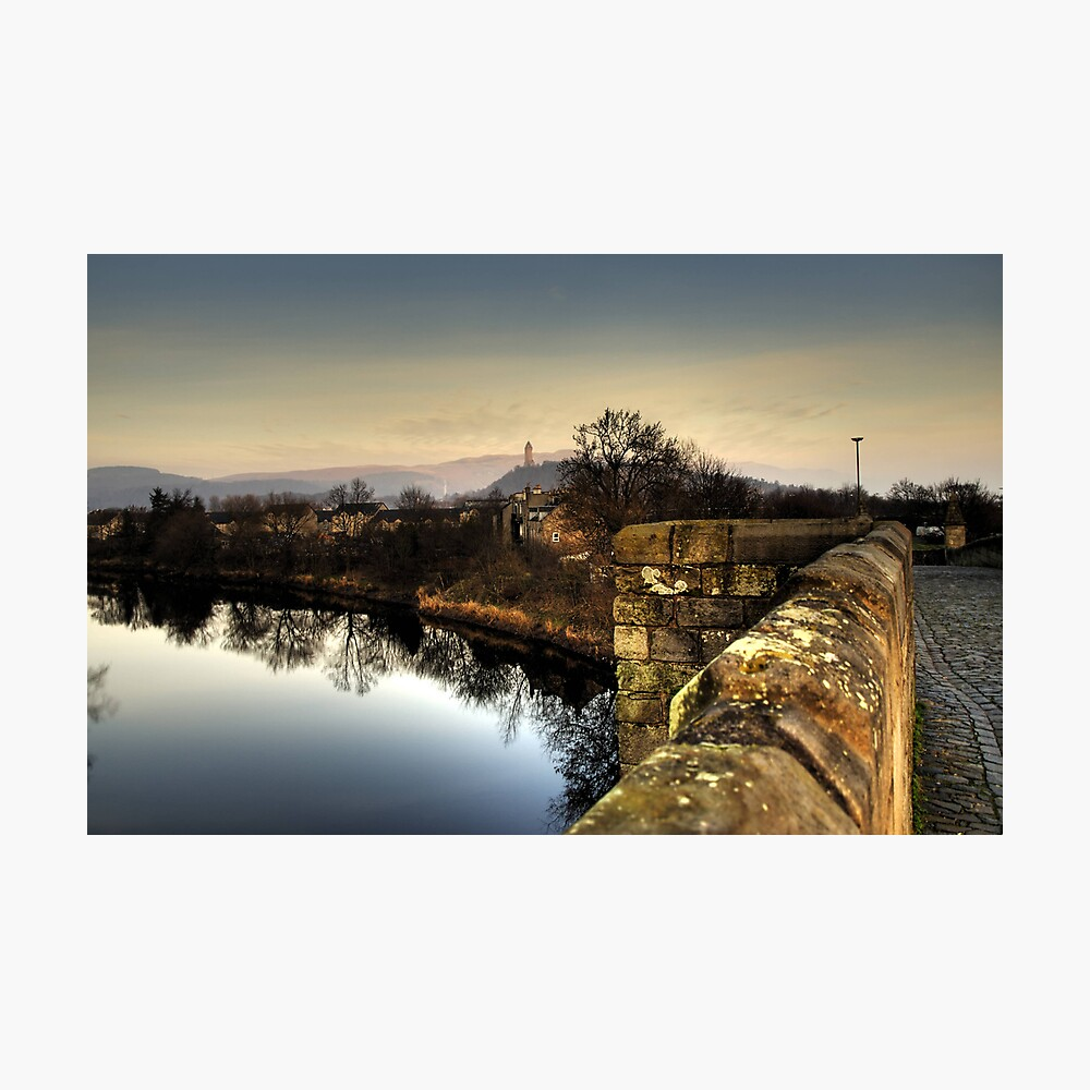 Wallace Monument from Stirling Bridge Photographic Print