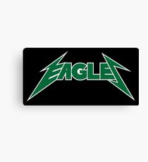 Awesome Eagles Logo - Heavy Metal Rock Look Canvas Print