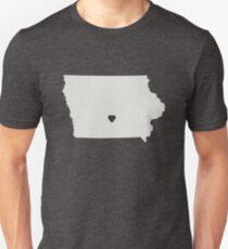 Iowa Love in Gray Unisex T-Shirt
