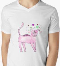 kitties head's in the stars  Men's V-Neck T-Shirt