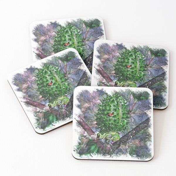 The Atlas of Dreams - Color Plate 120 Coasters (Set of 4)