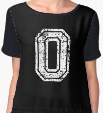 #0 Number Zero Sports Team T-Shirt White Text Chiffon Top