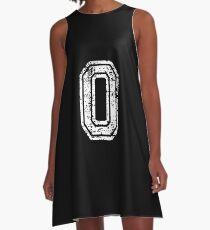 #0 Number Zero Sports Team T-Shirt White Text A-Line Dress