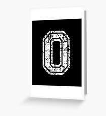 #0 Number Zero Sports Team T-Shirt White Text Greeting Card