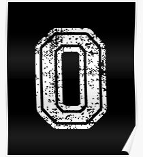 #0 Number Zero Sports Team T-Shirt White Text Poster