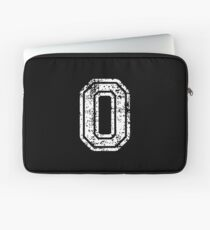 #0 Number Zero Sports Team T-Shirt White Text Laptop Sleeve