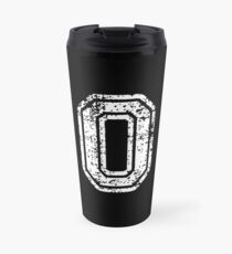 #0 Number Zero Sports Team T-Shirt White Text Travel Mug