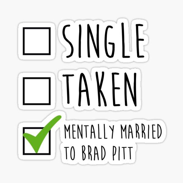 Single Tomado Brad Pitt Pegatina