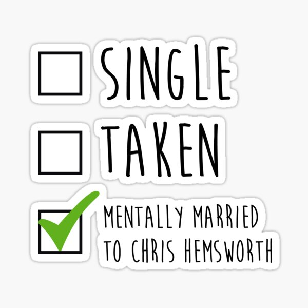 Single Taken Chris Hemsworth Sticker