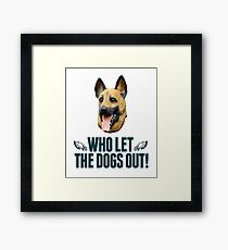 Who Let The Dogs Out - Eagles T-Shirt Framed Print