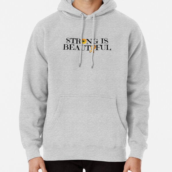 MS, CRPS, Strong Is Beautiful Orange Ribbon Awareness  Pullover Hoodie