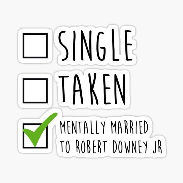 Single Taken Robert Downey Jr. Sticker