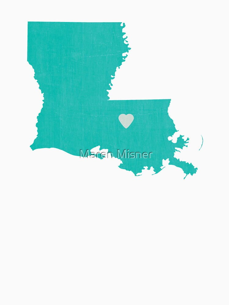 Louisiana Love in Teal by marenmisner