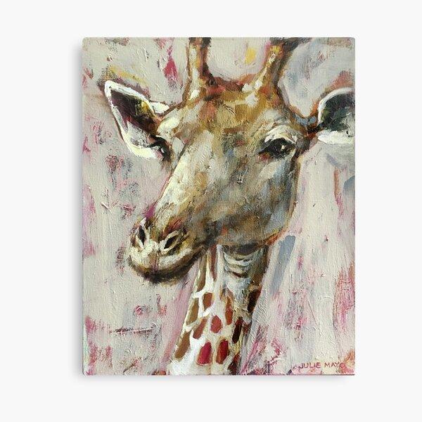 Painted Giraffe portrait Canvas Print