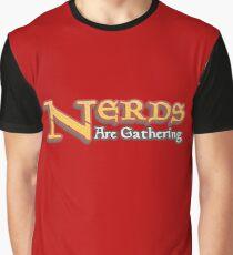 Nerds Are Gathering - Magic The Gathering MTG Spoof Graphic T-Shirt