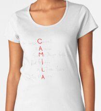 Camila Album White Women's Premium T-Shirt